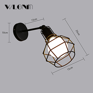Image 4 - Vintage Wall Lamp Industrial wall light LED Sconce American Retro wall lamp Metal cover light Home decoration lighting fixture
