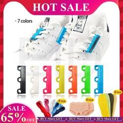 EID 1 Paar 6 Farbe Schnürsenkel Magnetische Schnürsenkel Schnalle Faul Verschlüsse Lacet Chaussure Schnürsenkel Keine zu Binden faul Schuh schnürsenkel Unisex