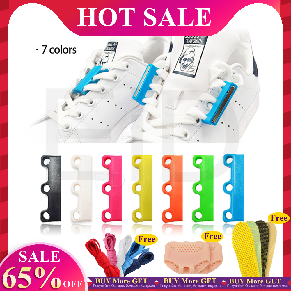 EID 1 Pair 6 Colour ShoeLaces Magnetic Shoelace Buckle Lazy Closures Lacet Chaussure Shoe Laces No To Tie Lazy Shoe Laces Unisex