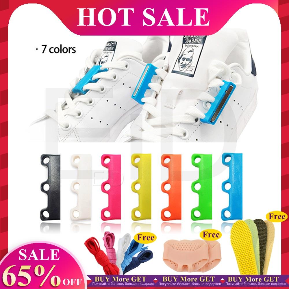 EID 1 Pair 6 Colour ShoeLaces Magnetic Shoelace Buckle Lazy Closures Lacet Chaussure Shoe Laces No To Tie Lazy Shoe Laces Unisex