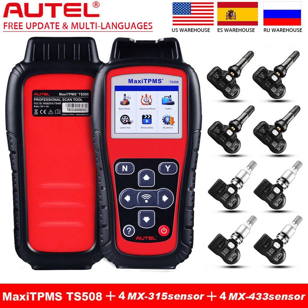 Autel MaxiTPMS TS508k TPMS Car Diagnostic Tool Check TPMS System Health Condition Program MX sensors and Conduct TPMS Relearn|Pressure & Vacuum Testers| - AliExpress