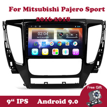 Android 9 Car Radio Multimedia DVD Player For Mitsubishi Pajero Sport 2016 2017 2018 IPS 9 inch Touchscreen Navigation GPS 2din 2 din car multimedia player 9 inch android 8 1 radio for mitsubishi pajero sport 2013 2018 gps navigation stereo