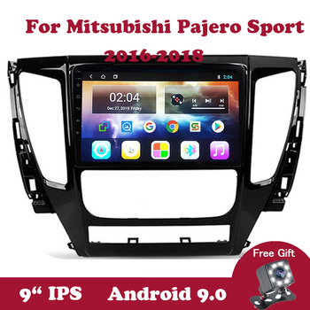 Android 9 Car Radio Multimedia DVD Player For Mitsubishi Pajero Sport 2016 2017 2018 IPS 9 inch Touchscreen Navigation GPS 2din image