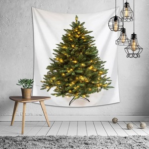 Christmas Green Tree Tapestry Wall Hanging Background Cloth Xmas Home Decoration