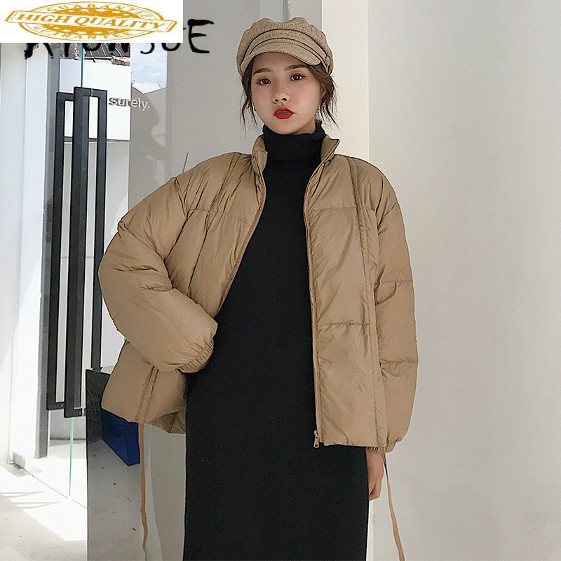 90% White Duck Down Jacket Women Clothes 2019 Winter Coat Women Stand Collar Korean Puffer Jacket Women Warm Parka 8075 YY2126