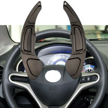 цена на Aluminium Alloy Steering Wheel Gear Shift Panel Paddle Extension Shifter Cover Fit For Honda CITY Fit Civic CR-V