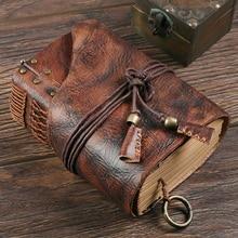 Vintage Notebook 100% Genuine Leather Handmade A4 A5 A6 Retro Travel Journal Dia