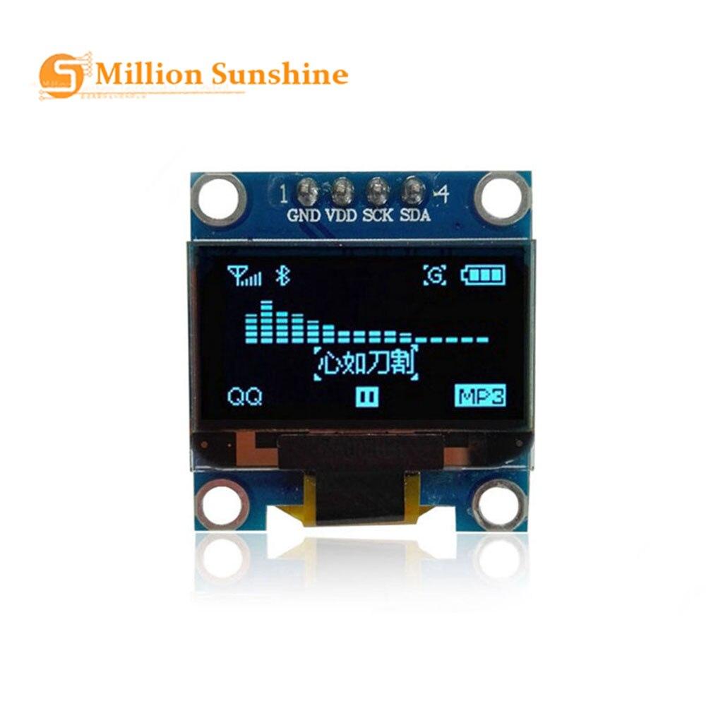 0.96 Inch IIC Serial Yellow Blue OLED Display Module 128X64 I2C SSD1306 12864 LCD Screen Board GND VCC SCL SDA 0.96
