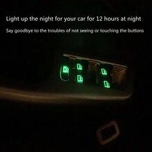 Suitable for Audi A4 B5 B6 B7 B8 B9 car window control panel button luminous stickers highlight luminous stickers