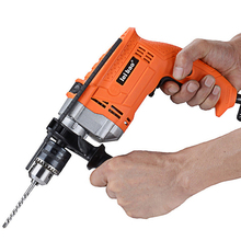 Electric Impact Hammer Drill Rotary 220v 750W 3000r/min Household DIY Auxiliary Handle Pistol Impact Drill Power Tools 30 3000r