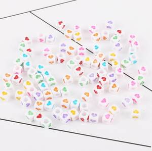 DHL 500bag 100pc/bag DIY Square/Round Alphabet Digital/Letter Acrylic Cube for Jewelry Making Craft Loom Band Bracelets