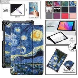 Чехол для Huawei MediaPad M5 Lite 10 BAH2-W19/L09/W09 Ультратонкий чехол-подставка из искусственной кожи для медиа-планшета M5 Lite 8