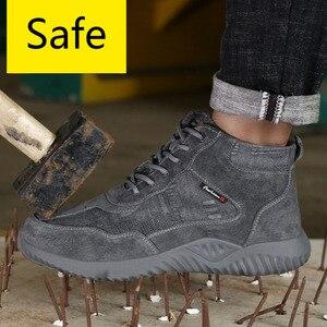 Image 2 - Stahl Kappe Kappe Anti smashing Männer Sicherheit Schuhe Unzerstörbar Anti Punktion Arbeits Schuhe Mann Sicherheit Alle In Einem sicherheit Stiefel Schuhe
