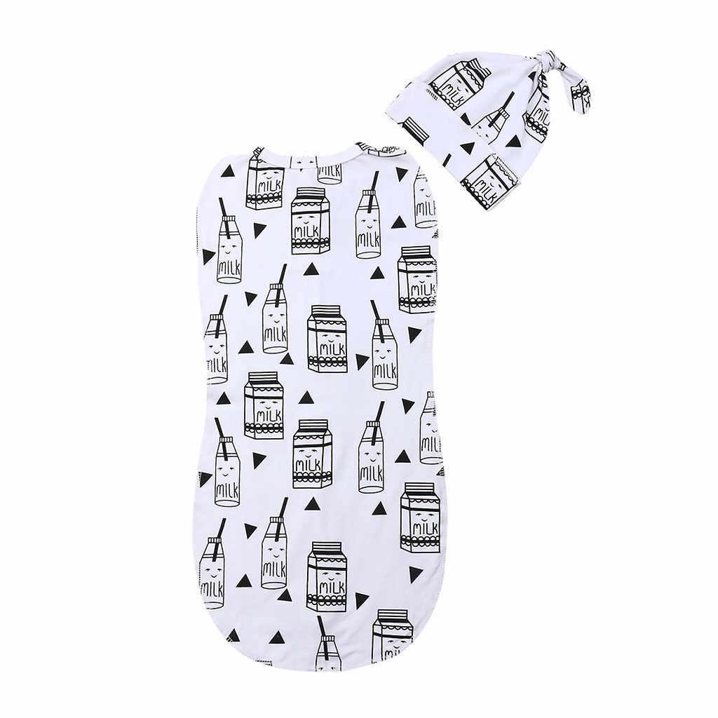 יילוד תינוקות תינוק רוכסן החתלה שמיכת נוחות לעטוף שקי שנת תלבושות פרחוני כותנה רך ילדי החתלה