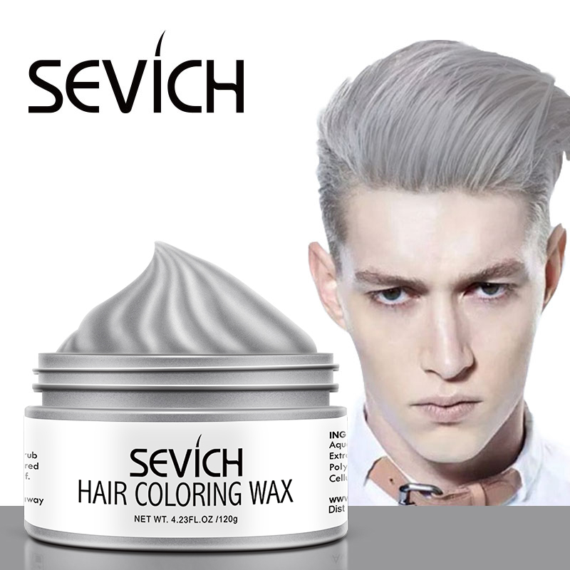 Sevich Hair Color Wax 120g Temporary Hair Color Wax Men DIY Hairstyle Mud Molding Paste Dye Cream Gel Disposable Dye Hair Cream