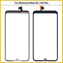 10 pezzi nuovo per Motorola Moto E6 Touch Screen Panel Digitizer Sensor vetro frontale per Moto E6 Plus sostituzione TouchScreen