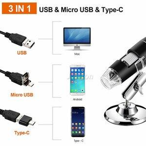 Image 3 - 40X 1000X 拡大鏡 8 LED 顕微鏡デジタルミニカメラハンドヘルド USB ビデオ内視鏡マイクロカム学校 Numerique Electronique