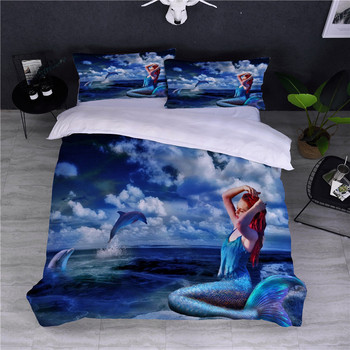BEST.WENSD- Soft Fabric 3D Mermaid King Size Bedding Sets Duvet Cover Sets Sheet Pillowcases 3D Home Textiles Comforter Sets