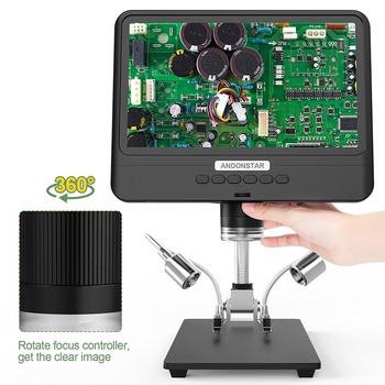 Andonstar New AD208 8.5 inch adjustable LCD display Microscope for soldering Digital Microscope Black 1080P Scope Soldering Tool