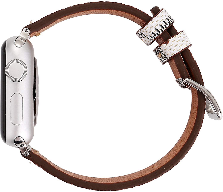 Hava עבור אפל שעונים 38/40/42 / 44mm עור אמיתי בנד רצועה אנטי-סתיו רך אפל iWatch סדרה 4/3/2/1 Band (3)