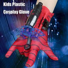 Motosiklet bisiklet eldiven çocuklar plastik Cosplay eldiven kahraman başlatıcısı bilek oyuncak seti komik çocuk eğitici oyuncaklar