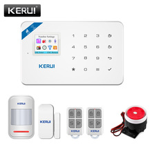 Alarm-System W18 Home-Security KERUI Wireless App-Control Tft-Screen Burglar Android