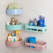Bathroom Shelf Organizer Rack Adhesive-Storage Corner Kitchen Home-Decoration Hooks