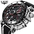 Relojes de moda para hombre, relojes deportivos de marca LIGE, reloj de cuarzo para hombre, Casual, militar, impermeable, reloj de pulsera, reloj Masculino