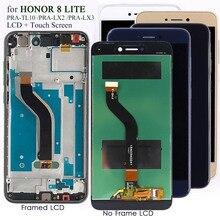 Display para honra 8 lite PRA TL10 lcd substituição da tela de toque para huawei p 8/p9 lite 2017 PRA LA1/lx2 tela lcd testado