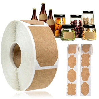Plain Kraft Stickers 300pc/Roll