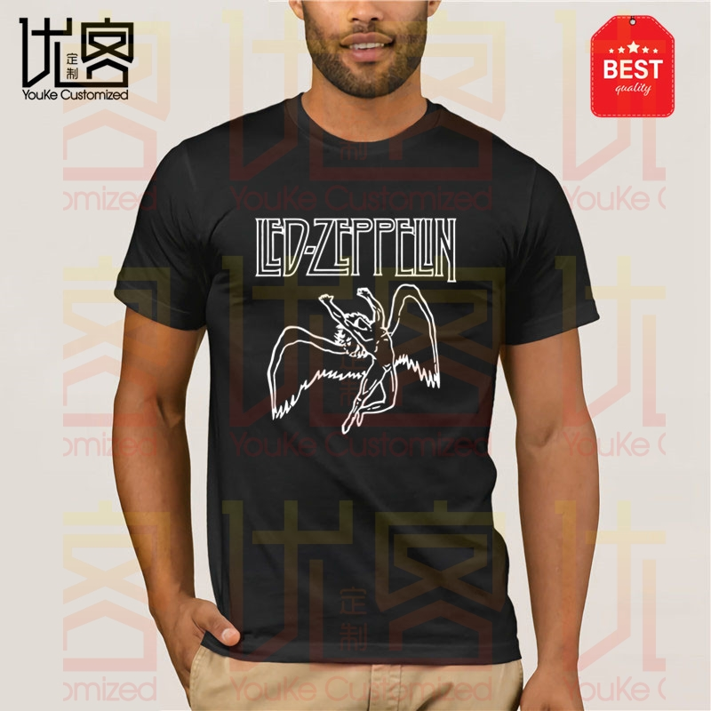 Amplified Clothing Mens Led Zeppelin T Shirt Casual Short Sleeve Crew Neck Tee
