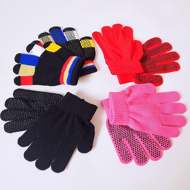 A Pair Of High Quality Children's Equestrian Gloves Comfortable Non-slip Warm Magic Gloves Children Riding Equipment
