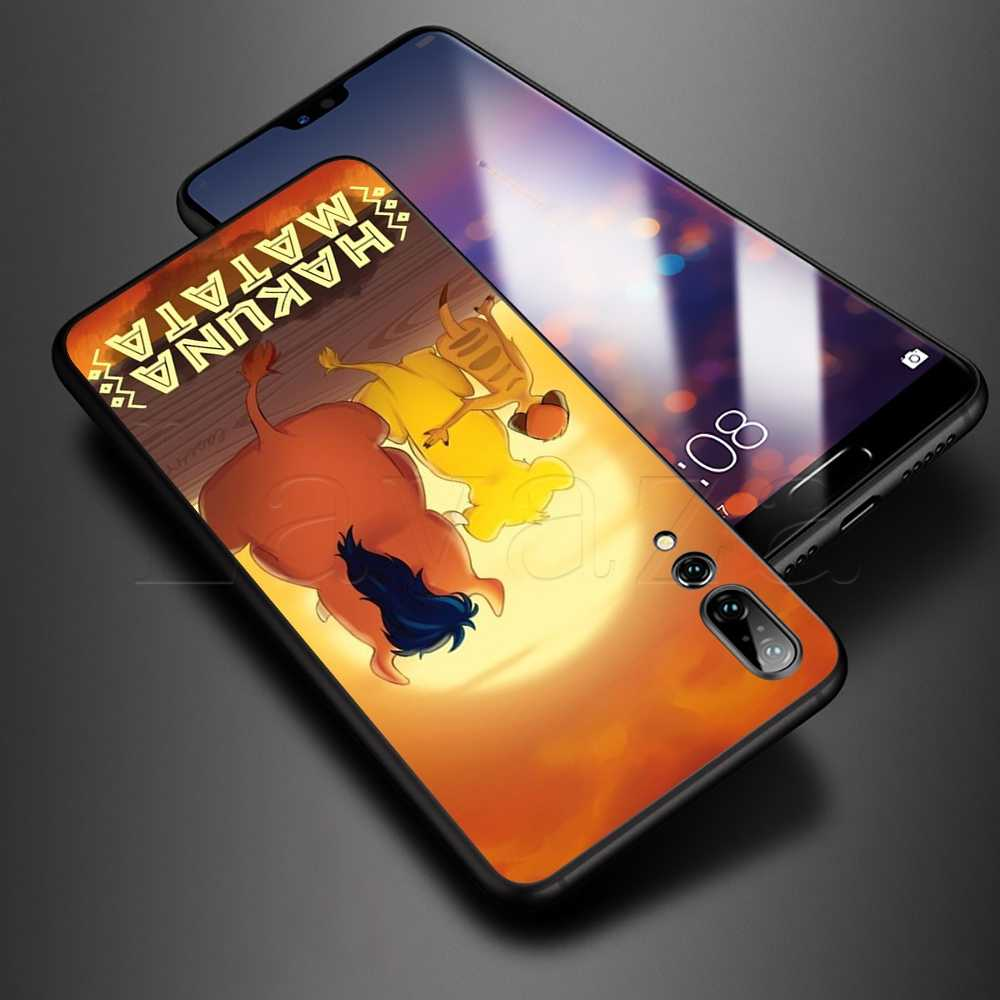 Lavaza anime aslan kral Hakuna Matata yumuşak TPU kılıf için Huawei Y6 Y9 Mate 10 20 30 Nova 3 3i 4 4E 5 5i 5T akıllı Lite Pro 2019