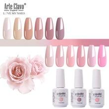 Arte Clavo Nail Polish UV Hybrid Gel Lak Pink Red Series Gel Varnish 15ml Nail Art Manicure Gel Polish Top Coat Nails Extensions