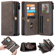 New PU Leather Flip Wallet Cover for iPhone 12 mini 11 Pro Max Xs Max XR X 8 7 Plus SE Multi functional Magnetic Phone Case
