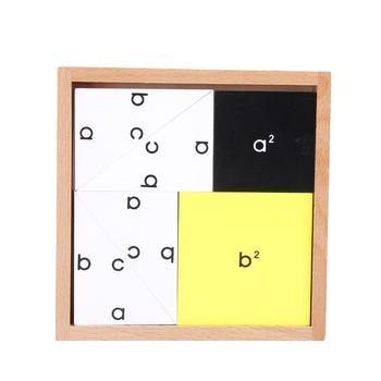 Kids Pythagorean Theorem Toy Pythagorean Theorem Wooden Montessori Children Early Learning Mathematics Toy montessori mathematics material toys for kids early learning multiplication