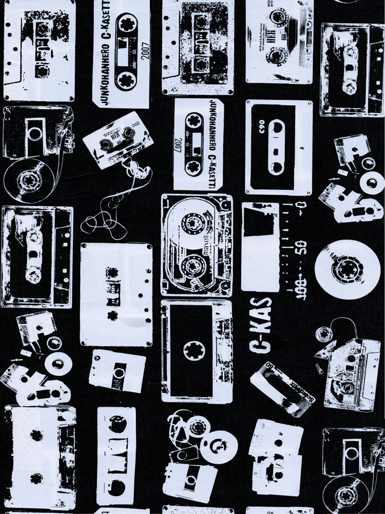 Peel And Stick Wallpaper Art Black White Radio Magnetic Tape Stitching Textured Self Adhesive Wallpaper For Kitchen Decoration