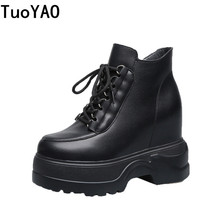 New Women Platform Boots 2019 Height Increased Waterproof Sneakers Winter