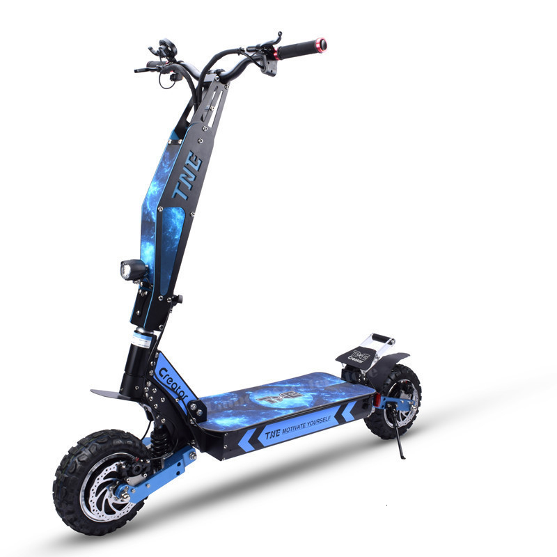 Puissant Scooter électrique 80 KM/H gros pneu 11 pouces double moteur 3600W 60V pliant hors route vélo électrique pour adulte