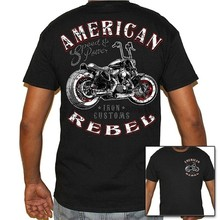 Camiseta motociclista rebelde omericon masculino da vida do motociclista uso
