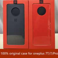 100% оригинальная задняя крышка для oneplus 7T 7 pro защитный чехол песчаник силиконовый нейлоновый бампер из углеродного волокна