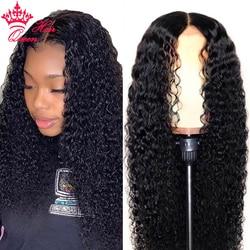 Głęboka koronkowa fala przodu peruki z ludzkich włosów wstępnie oskubane dla czarnych kobiet peruwiański włosy 13x4 koronkowa peruka z przodu królowa włosów oficjalny sklep