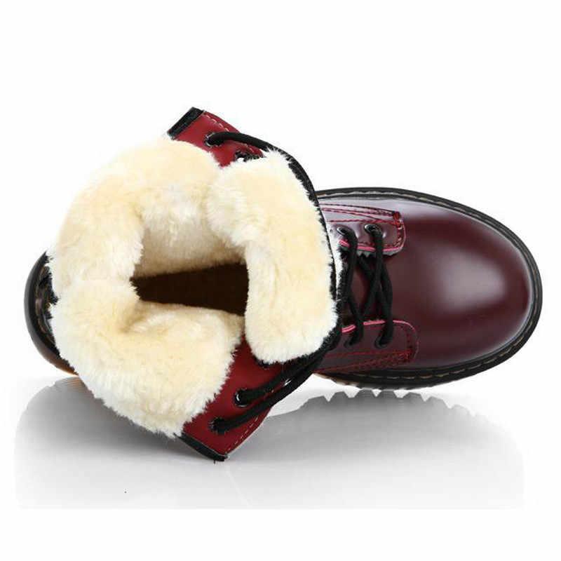 Moda sıcak peluş kar botları kadın Pu deri ayakkabı için kış kadın rahat Jason Martins Botas Mujer bahar kadın yarım çizmeler