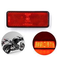 Universal led refletor traseiro cauda freio parar marcador de luz caminhão do carro reboque para suzuki bmw ktm yamaha bmw kawasaki motocicleta