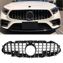 Car Accessories Front Grille Middle Net Grills Assembly Frame Cover Parts For Mercedes Benz CLS Class W257 C257 2018 2019 2020
