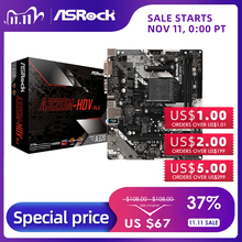 ASRock Super Alloy A320M HDV R4.0 Desktop Motherboard PC AM4 Socket DDR4 SATA3,  Ultra M.2 USB 3.1 VGA HDMI Micro ATX