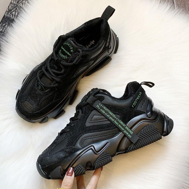 2020 femmes grosses baskets mode plate-forme maille marque femmes chaussures décontractées Tennis femme Comfor noir femme vulcanisé chaussures