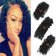 Afro Kinky Jerry Hair Bundles 14-16-18inch 6 Bundle Pack Heat Resistant Synthetic Hair Weaves 200g Natural Color Kinky Curl Hair(China)