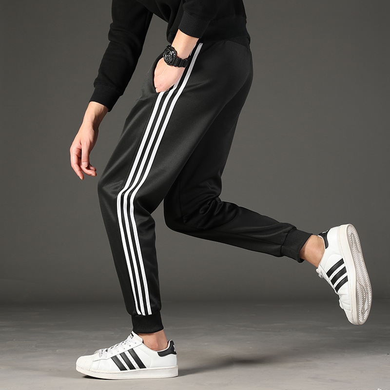 Casual Pants Men's 2019 Autumn Students Comfortable Gymnastic Pants Teenager Korean-style Loose-Fit Skinny Trend Sweatpants Thin