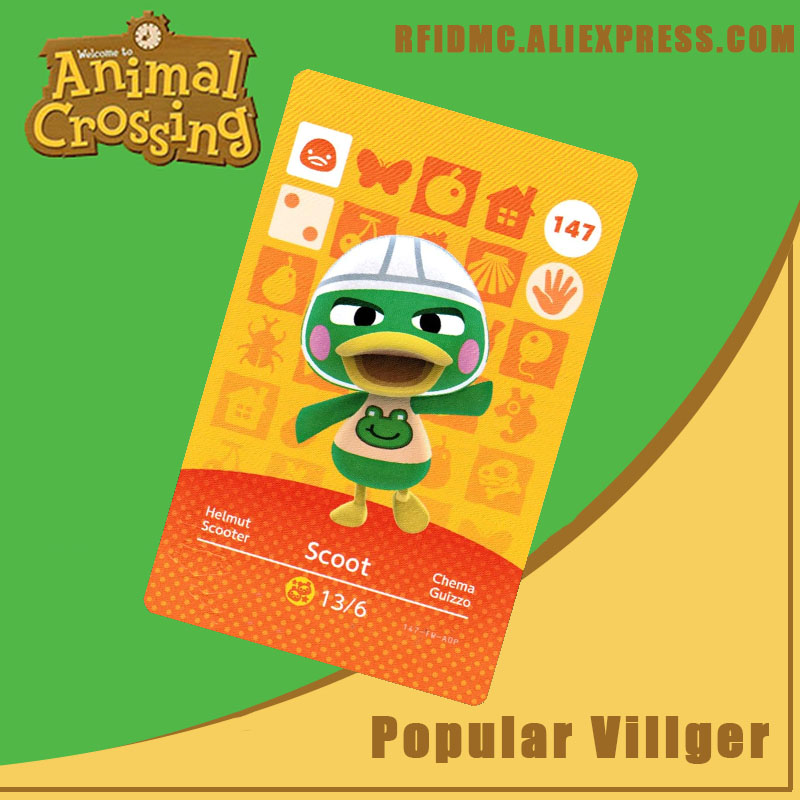 147 Scoot Animal Crossing Card Amiibo For New Horizons